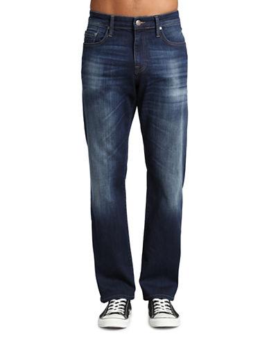Mavi Myles Mid Rise Straight Leg Jeans-DARK BLUE-30X32
