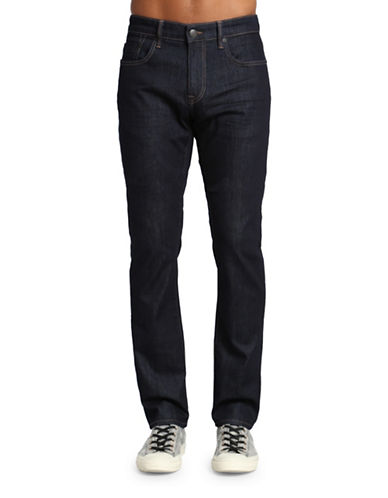 Mavi Jake Regular Rise Slim Leg Jeans-DARK BLUE-40X36