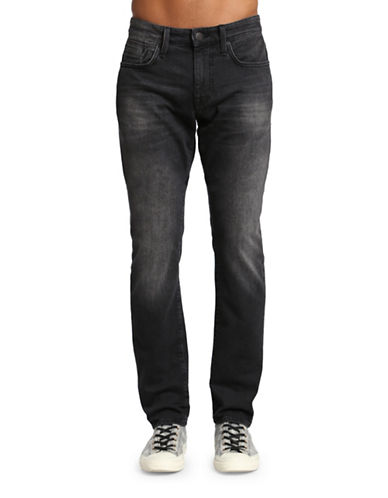 Mavi Jake Slim Leg Jeans-DARK GREY-34X32