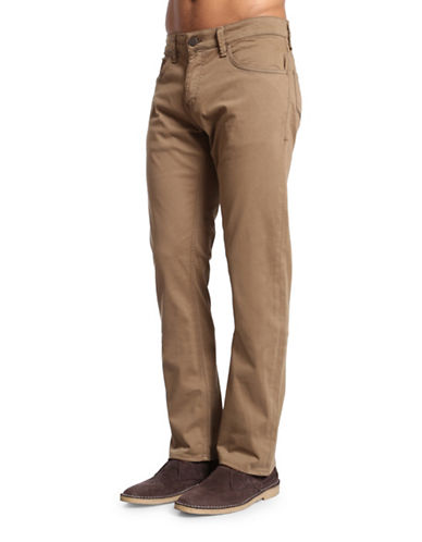 Mavi Zach Straight Leg Pants-BEIGE-34X30