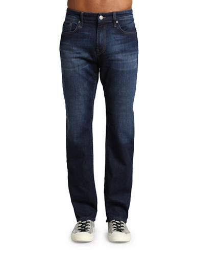 Mavi Zach Straight Leg Jeans-DARK BLUE-28X34