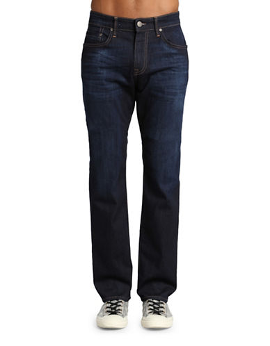 Mavi Zach Straight Leg Jeans-DARK BLUE-38X34