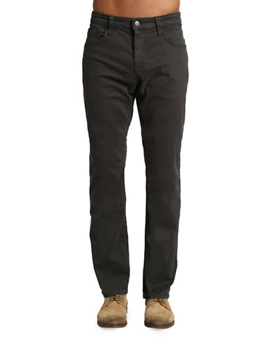 Mavi Zach Straight Leg Jeans-BLACK-36X32