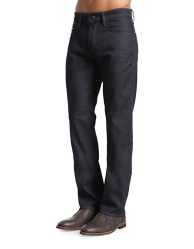 Mavi Zach Straight Leg Jeans-DARK BLUE-32X36