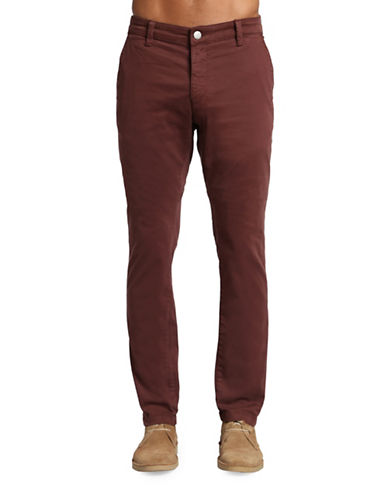 Mavi Johnny Slim Leg Chino Pants-DARK RED-33X34