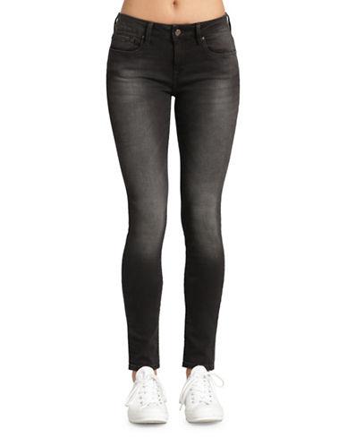 Mavi Alexa Mid Rise Skinny Jeans-SMOKE SUPER-26