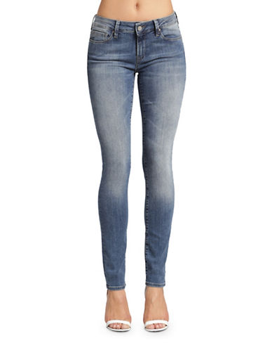 Mavi Adriana Faded Mid-Rise Super Skinny Jeans-USED TRIBECA-30