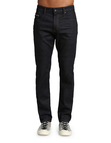 Mavi Jake Slim Leg Jeans-DARK BLUE-31X34
