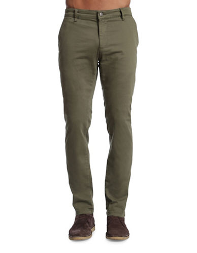 Mavi Johnny Slim Leg Chino Pants-DARK GREEN-38X32