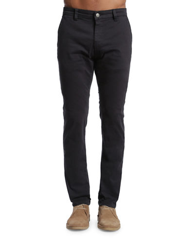 Mavi Johnny Slim Leg Chino Pants-BLACK-33X34