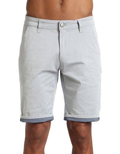 Mavi Jacob Cotton-Blend Shorts-LIGHT BLUE-38
