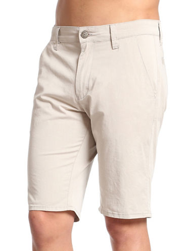 Mavi Cotton-Blend Jacob Shorts-BEIGE-30