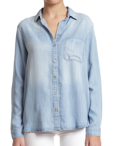 Mavi Kenny Denim Shirt-LIGHT INDIGO TENCEL-X-Large