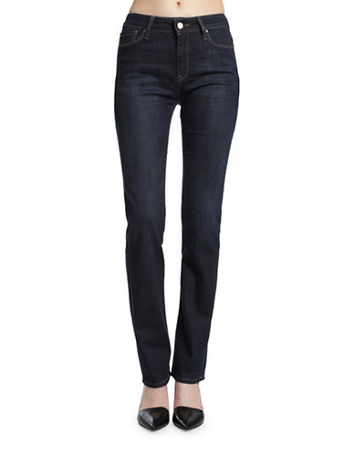 Mavi Kendra High-Rise Straight-Leg Jeans-BLUE-32X34
