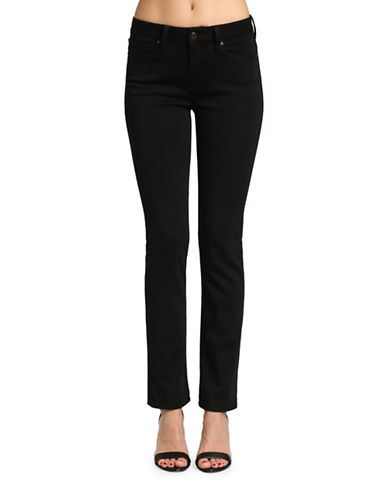 Mavi Kendra High-Rise Straight-Leg Jeans-BLACK-28X32