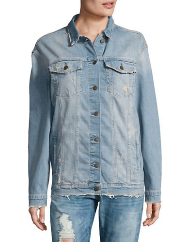 Image of 15/Fifteen Oversized Denim Jacket-MID USED BLUE-Small