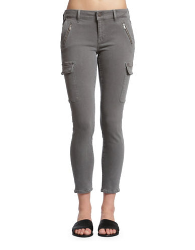 Mavi Juliette Ankle Mid-Rise Cargo Pants-GREY TWILL-32