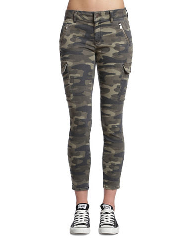 Mavi Juliette Camouflage Mid-Rise Skinny Cargo Pants-MILITARY CAMOUFLAGE-33