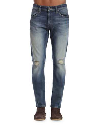 Mavi Jake Ripped Slim Leg Jeans-BLUE-28X34