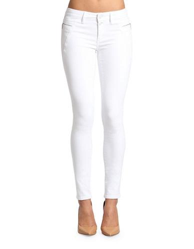 Mavi Adriana Mid Rise Super Skinny Jeans-GLAM WHITE RINSE-24