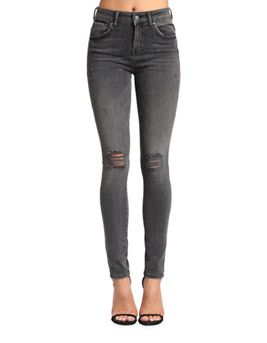 Mavi Alissa High Rise Super Skinny Faded Jeans-MID GREY RETRO-29