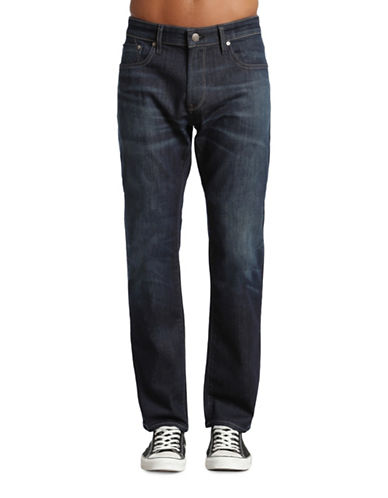 Mavi Zach Regular Rise Straight-Leg Jeans-BLUE-33X34