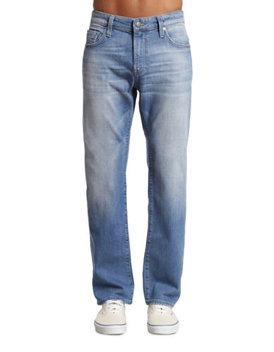 Mavi Zach Whiskered Straight-Leg Jeans-BLUE-31X34