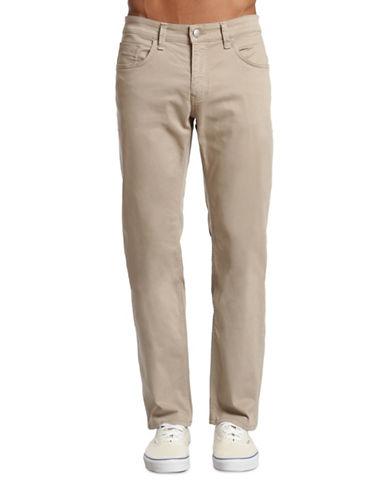 Mavi Zach Twill Straight-Leg Jeans-BEIGE-30X32