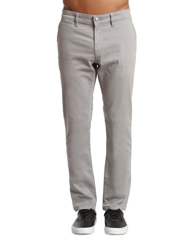 Mavi Johnny Slim-Leg Sharkskin Twill Chinos-GREY-33X32