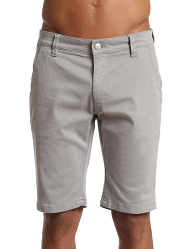 Mavi Sharkskin Twill Jacob Shorts-GREY-34
