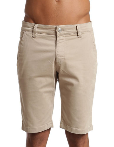 Mavi Jacob Straight Leg Shorts-BEIGE-33