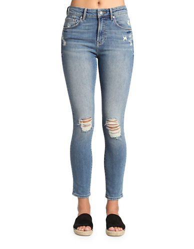 Mavi Lucy Ankle Super High Rise Super Skinny Distressed Jeans-USED VINTAGE-28
