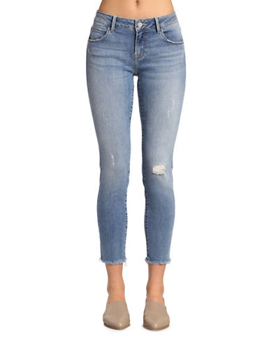 Mavi Adriana Ankle Mid Rise Super Skinny Jeans-LIGHT SHADED GOLD VINTAGE-30