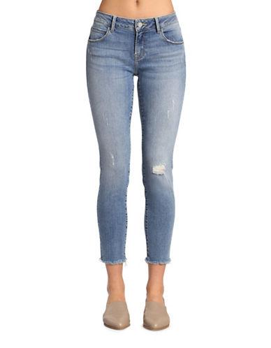 Mavi Adriana Ankle Mid Rise Super Skinny Jeans-LIGHT SHADED GOLD VINTAGE-31