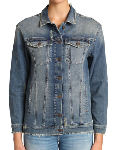 Mavi Jill Denim Jacket-BLUE-Large 89122630_BLUE_Large