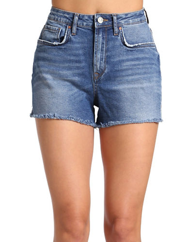 Mavi Claire High Rise Shorts-INDIGO RETRO BLUE-27