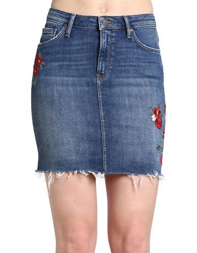 Mavi Melody Denim Skirt-BLUE-Small
