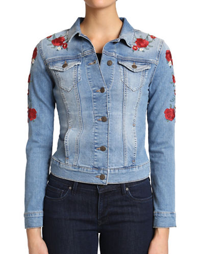 Mavi Daisy Denim Jacket-BLUE-Medium