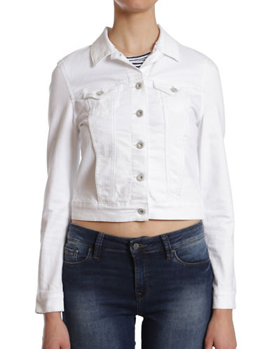 Mavi Samantha Denim Jacket-WHITE NOLITA-X-Small