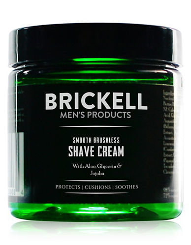 Brickell Smooth Brushless Shave Cream-NO COLOUR-150 ml