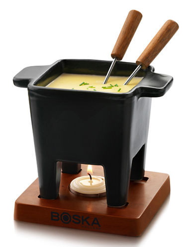 Boska Tapas Ceramic Fondue Set 200 ml-BLACK-200 ml