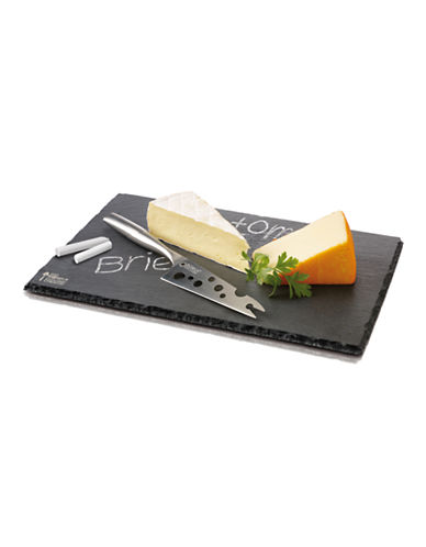Boska Large Slate Cheese Board with Knife-GREY-One Size