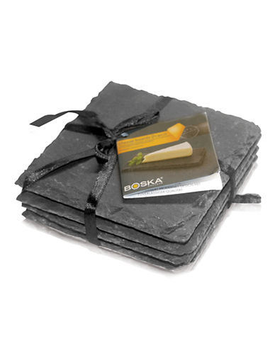 Boska Pro Series Slate Coasters Set of 4-GREY-One Size
