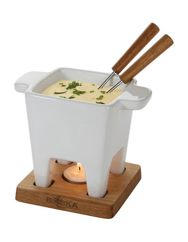 Boska Tapas Five-Piece Fondue Set-WHITE-One Size