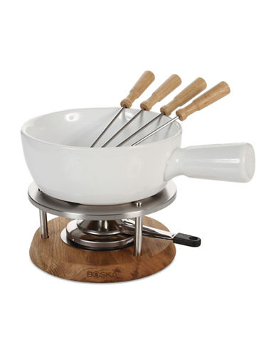 Boska Oak Bianco Seven-Piece Fondue Set-WHITE-One Size