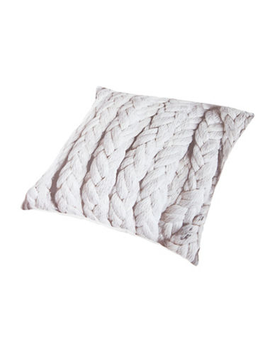 Gouchee Design Braided Rope Print Cushion-MULTI-18x18