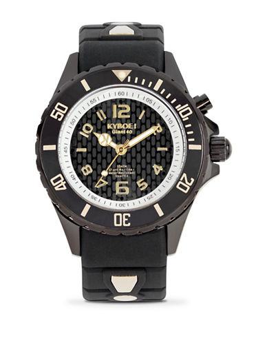 Kyboe! Power Black Lightening Analog Watch-BLACK-One Size