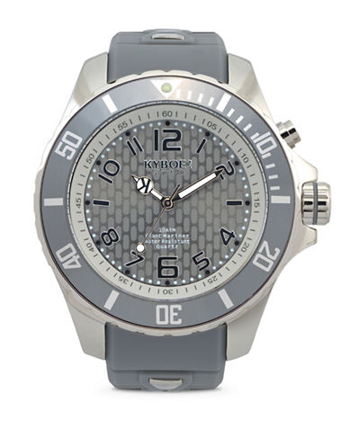 Kyboe! Cyclone Watch Analog Silicone Strap Watch-SILVER-One Size