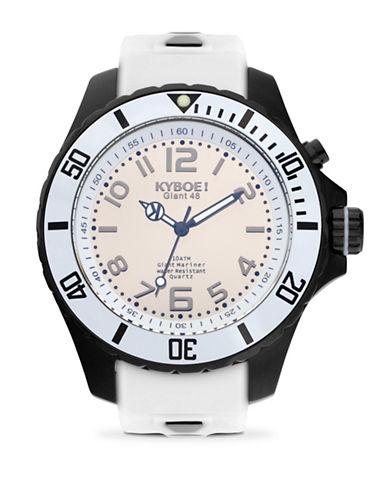 Kyboe! Power Black Reflector Analog Watch-WHITE/BLACK-One Size