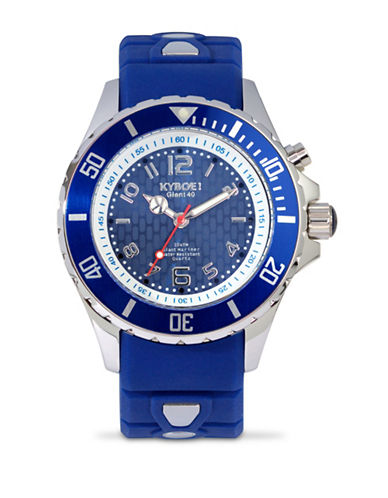 Kyboe! Power Silver Sea Analog Watch-BLUE-One Size